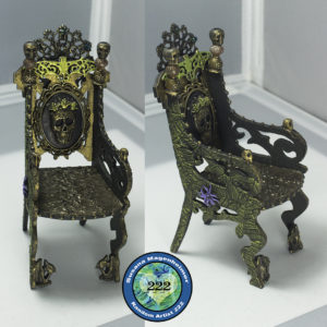 Relics and Artifacts Finished Mixed Media Throne